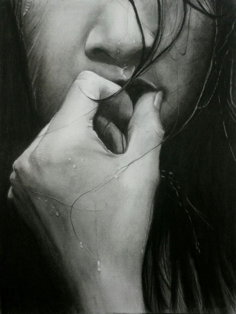 Dibujo al carbón con lápiz compuesto de Pepa Trujillano.